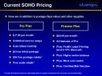 current soho pricing