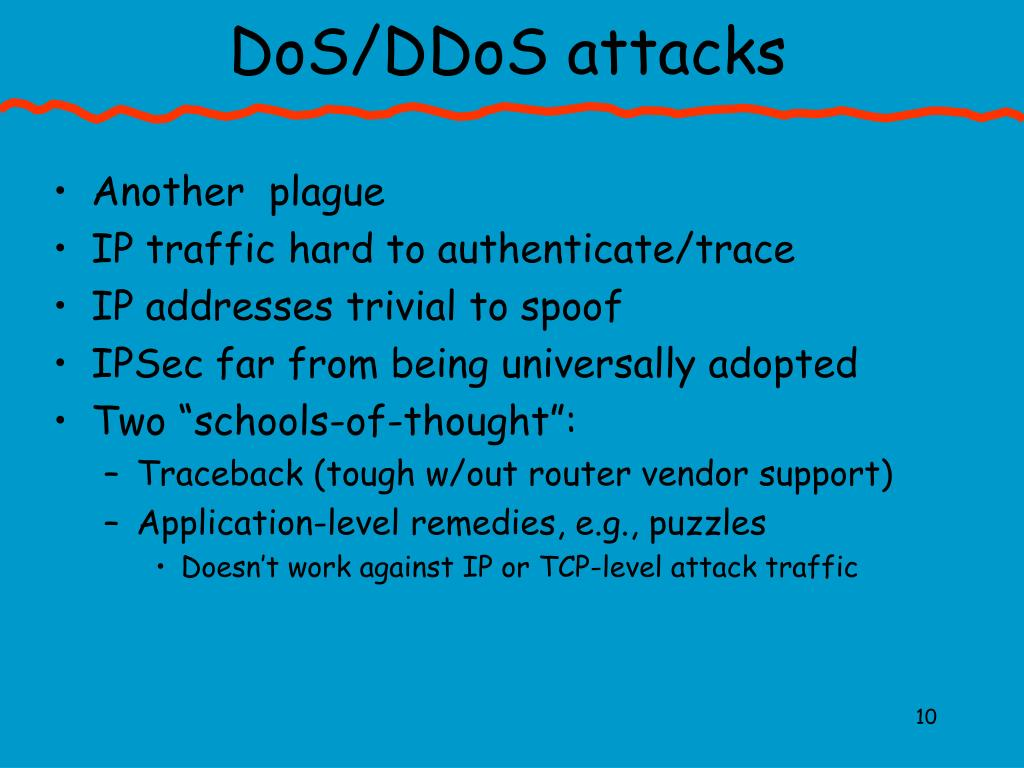 DoS/DDoS attacks
