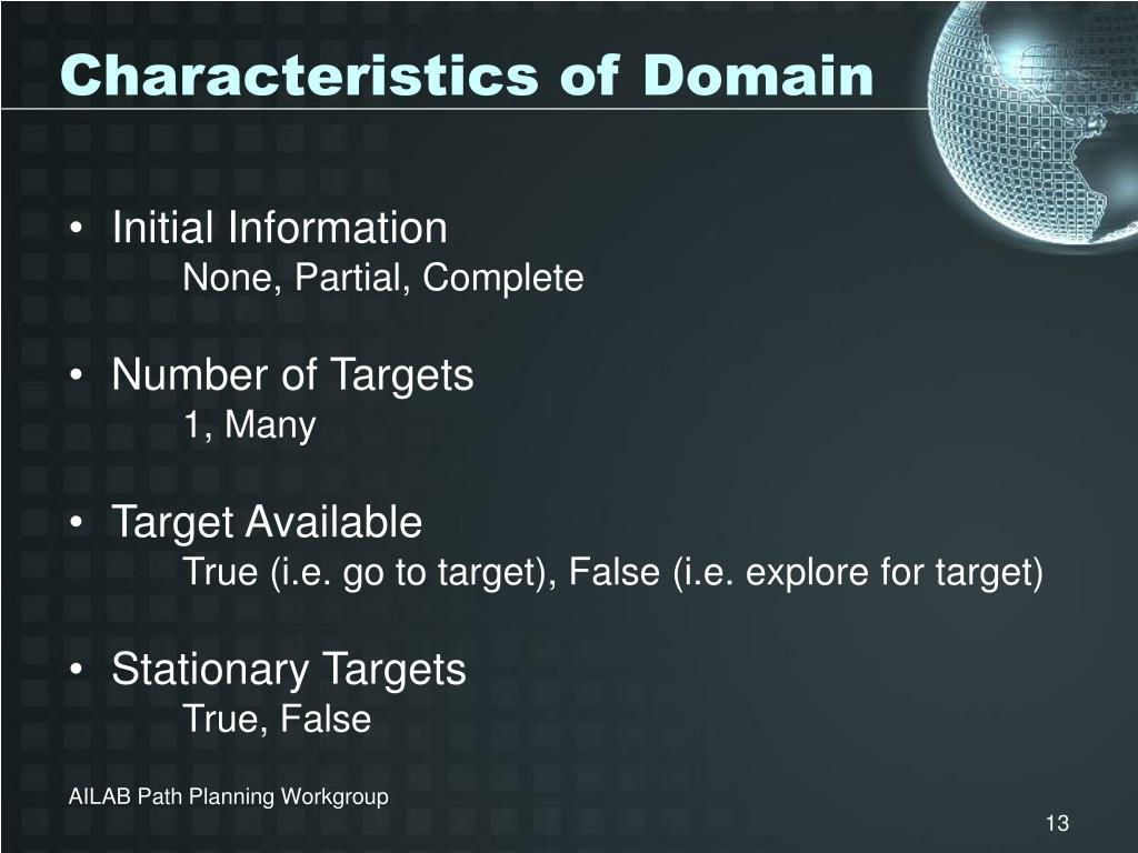 Characteristics of Domain