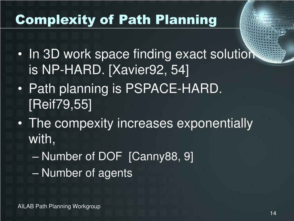Complexity of Path Planning
