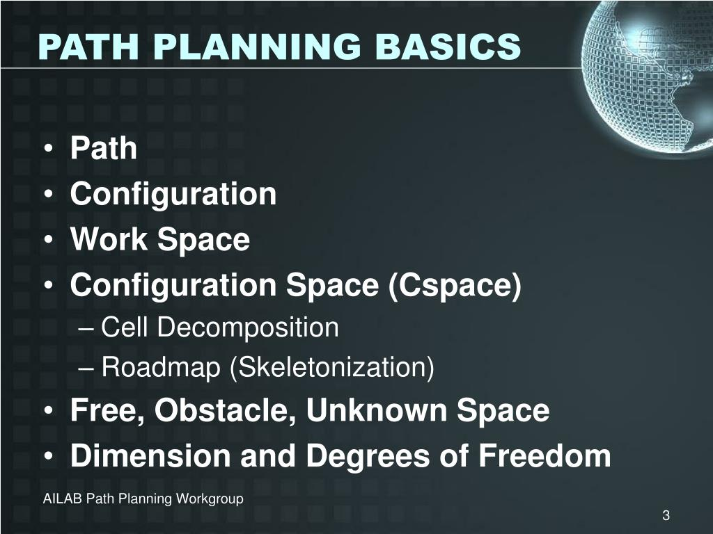 PATH PLANNING BASICS