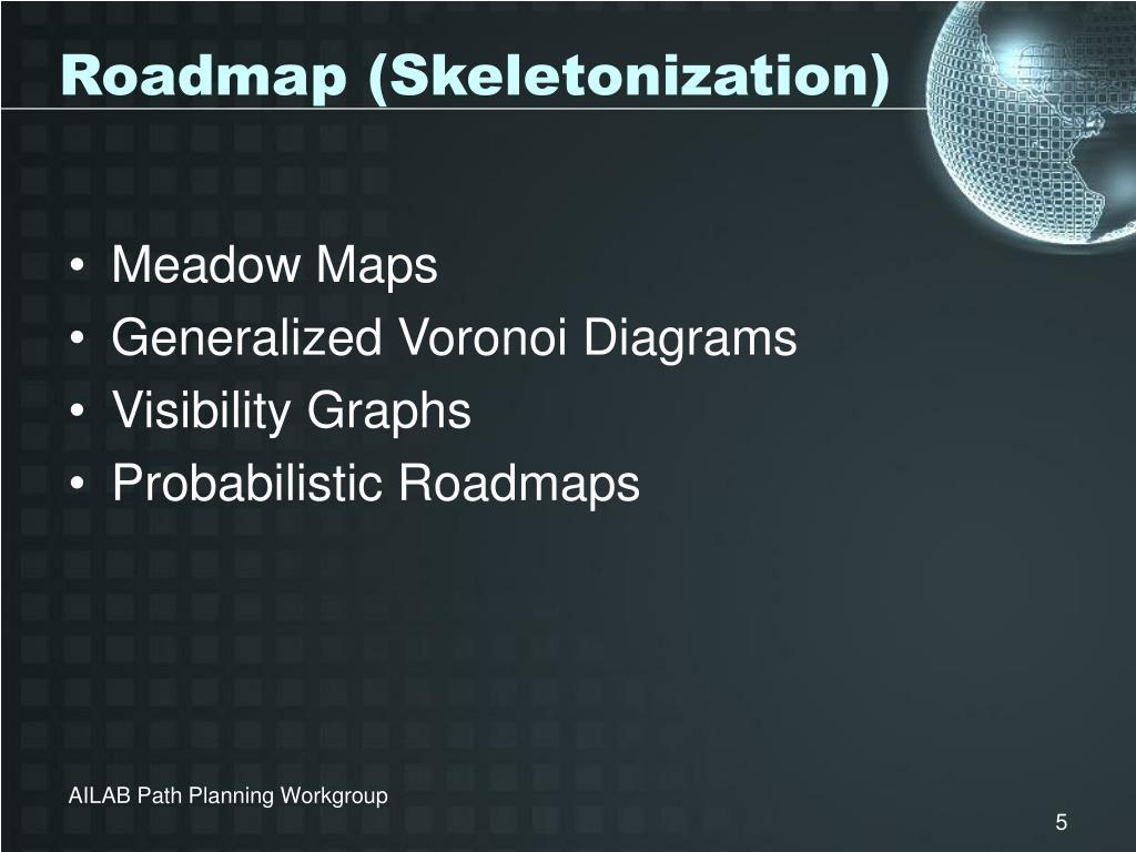 Roadmap (Skeletonization)