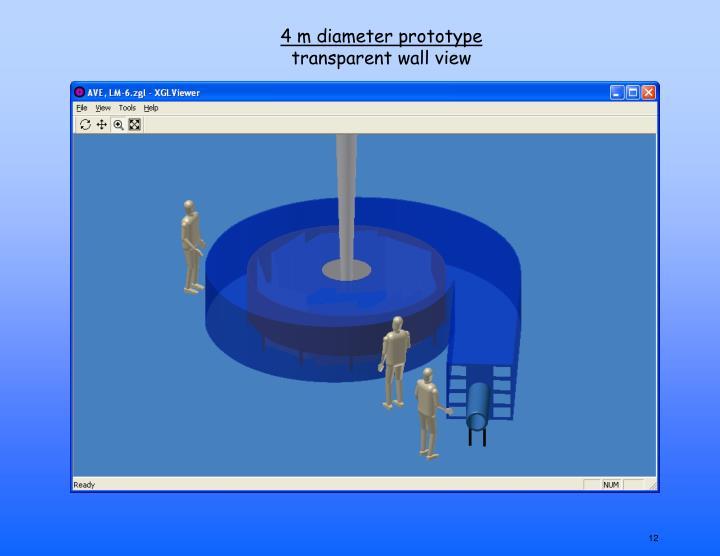 4 m diameter prototype