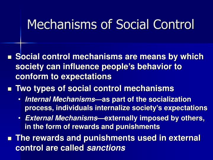 types of control mechanisms