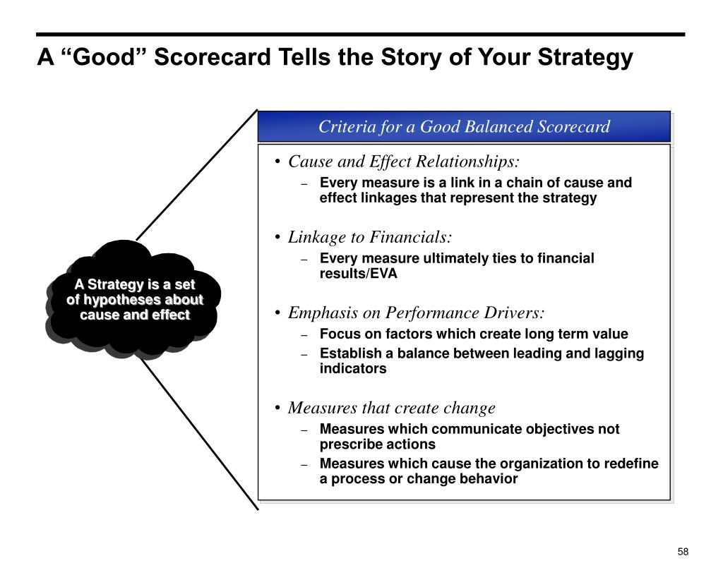 """A """"Good"""" Scorecard Tells the Story of Your Strategy"""