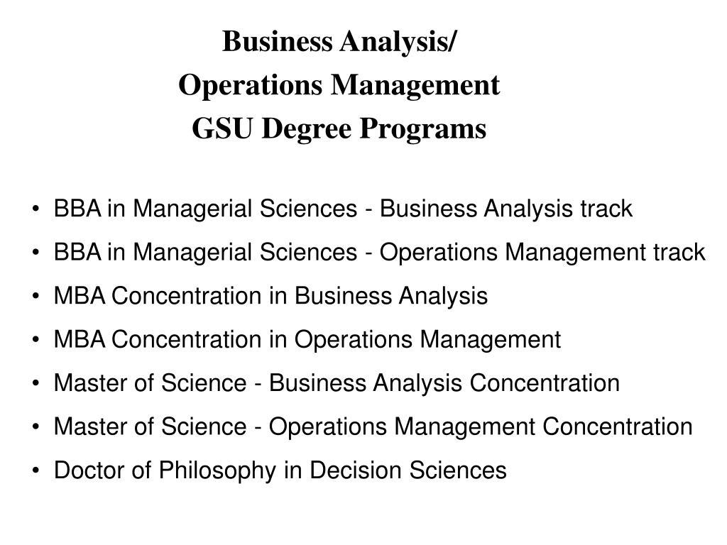 Business Analysis/