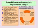 aparici i desenvolupament del capitalisme a europa