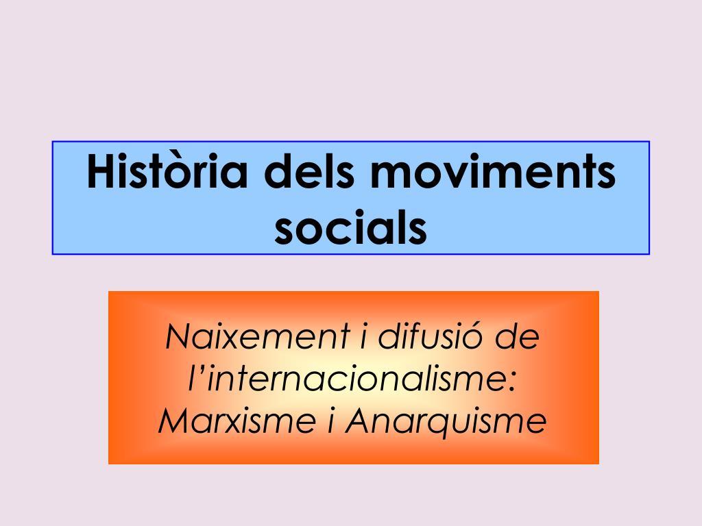 hist ria dels moviments socials l.