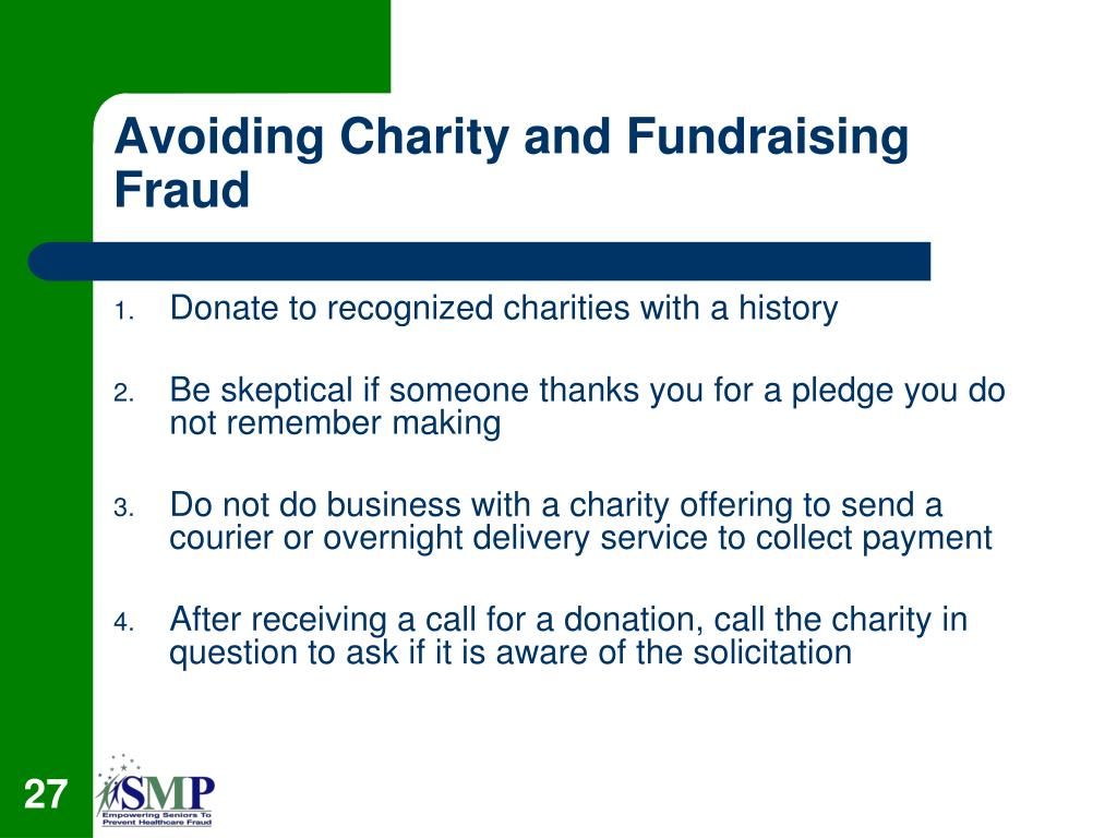 Avoiding Charity and Fundraising Fraud