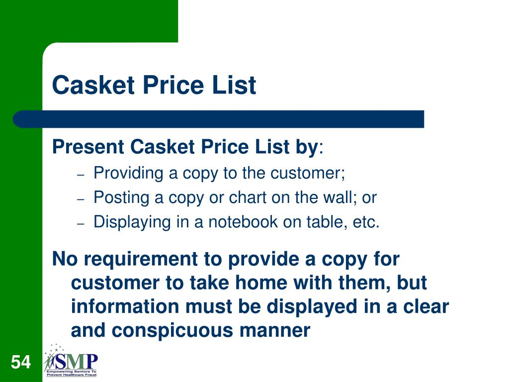 Casket Price List