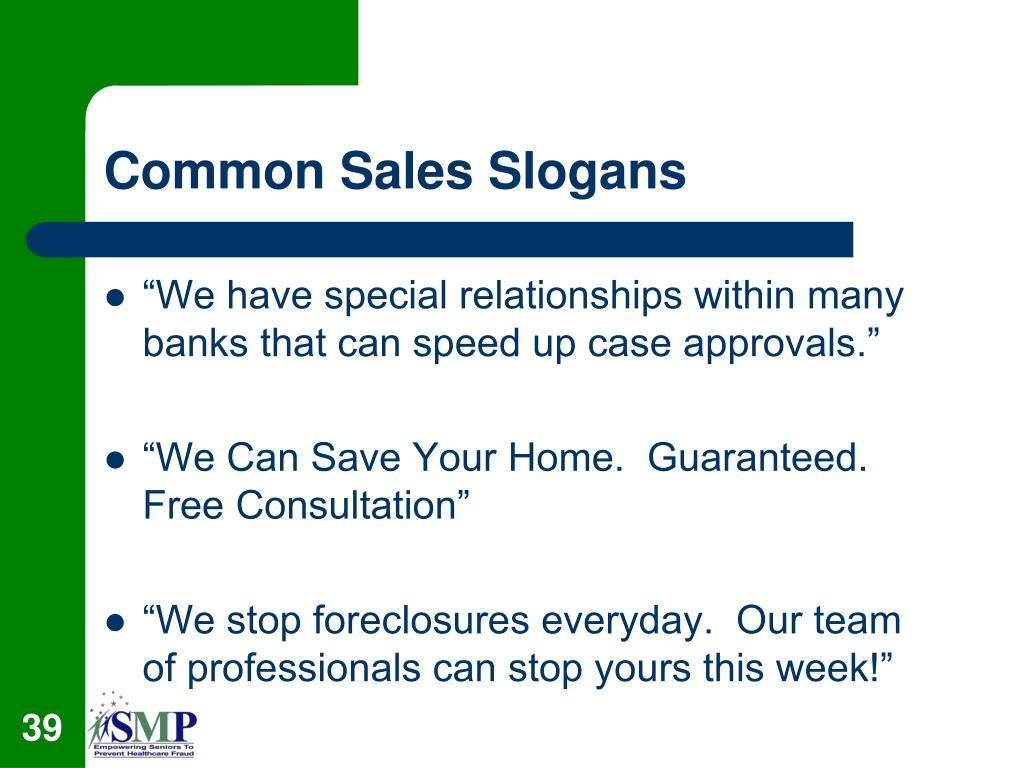 Common Sales Slogans