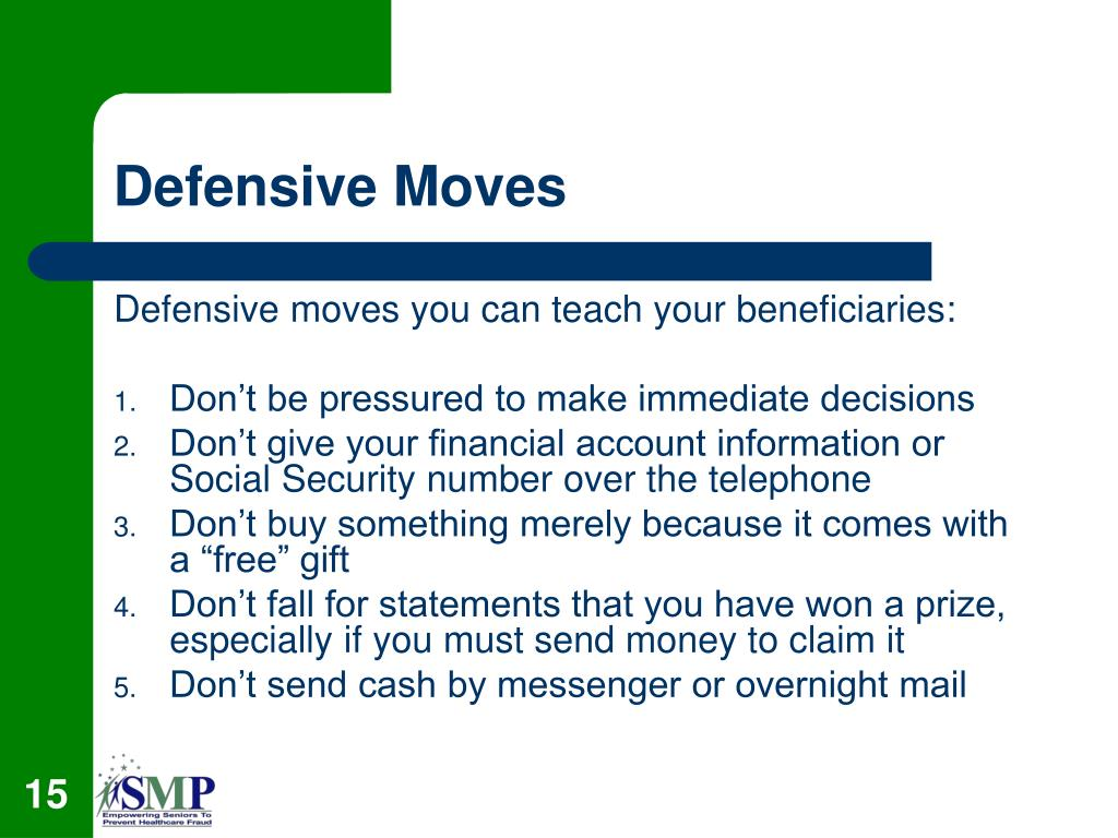 Defensive Moves