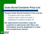 outer burial container price list56