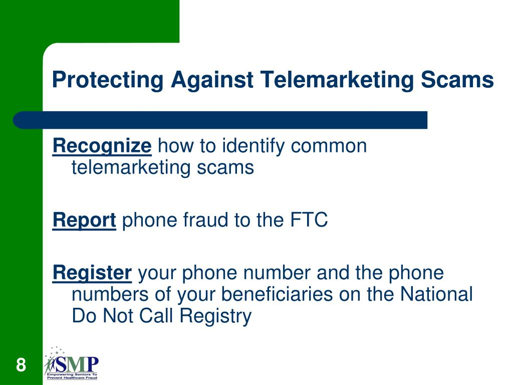 Protecting Against Telemarketing Scams