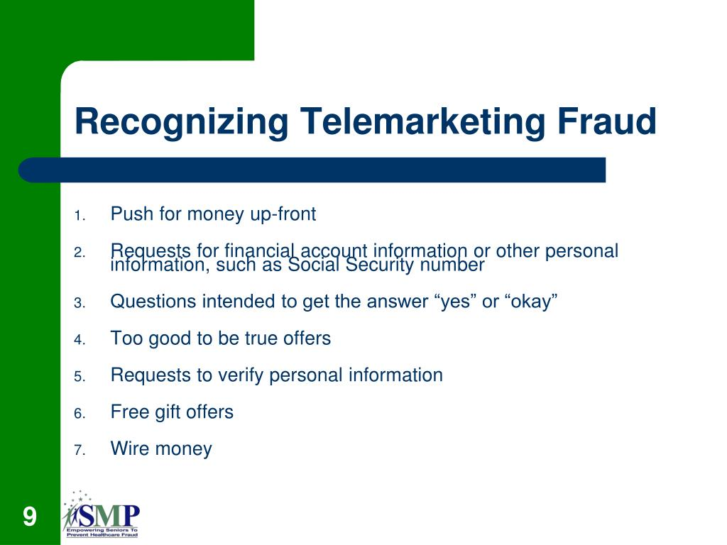 Recognizing Telemarketing Fraud