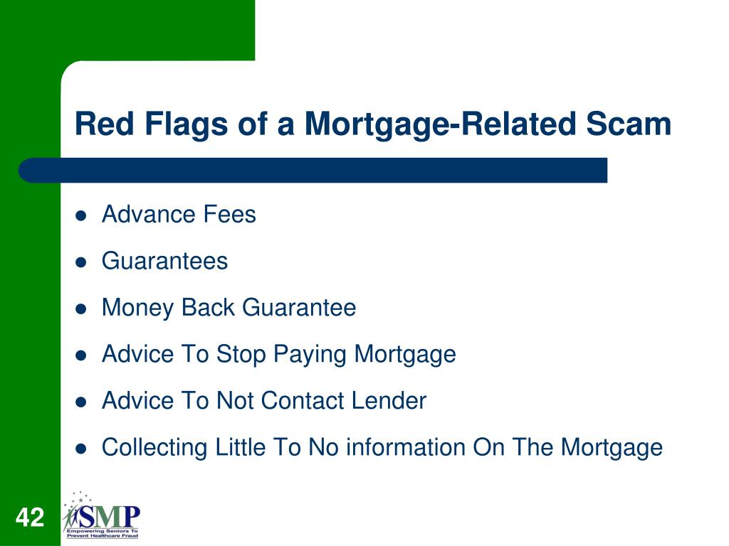 Red Flags of a Mortgage-Related Scam