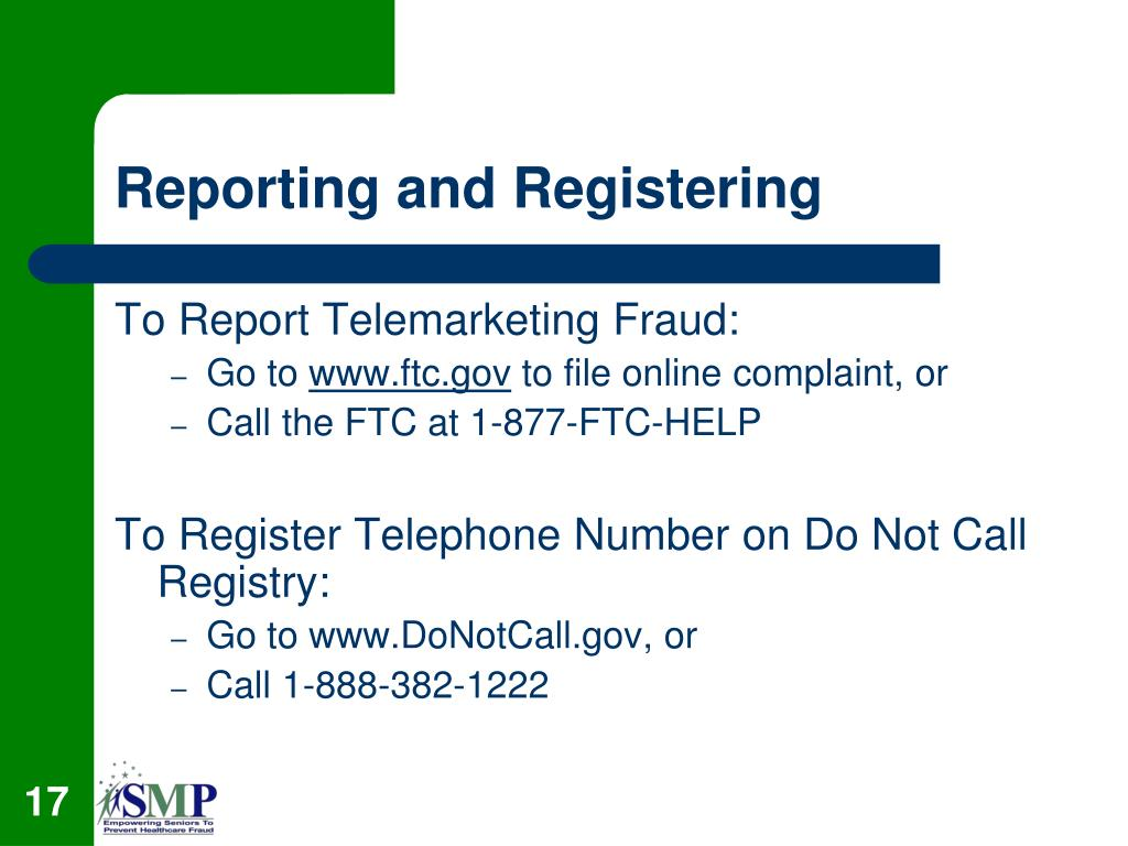 Reporting and Registering
