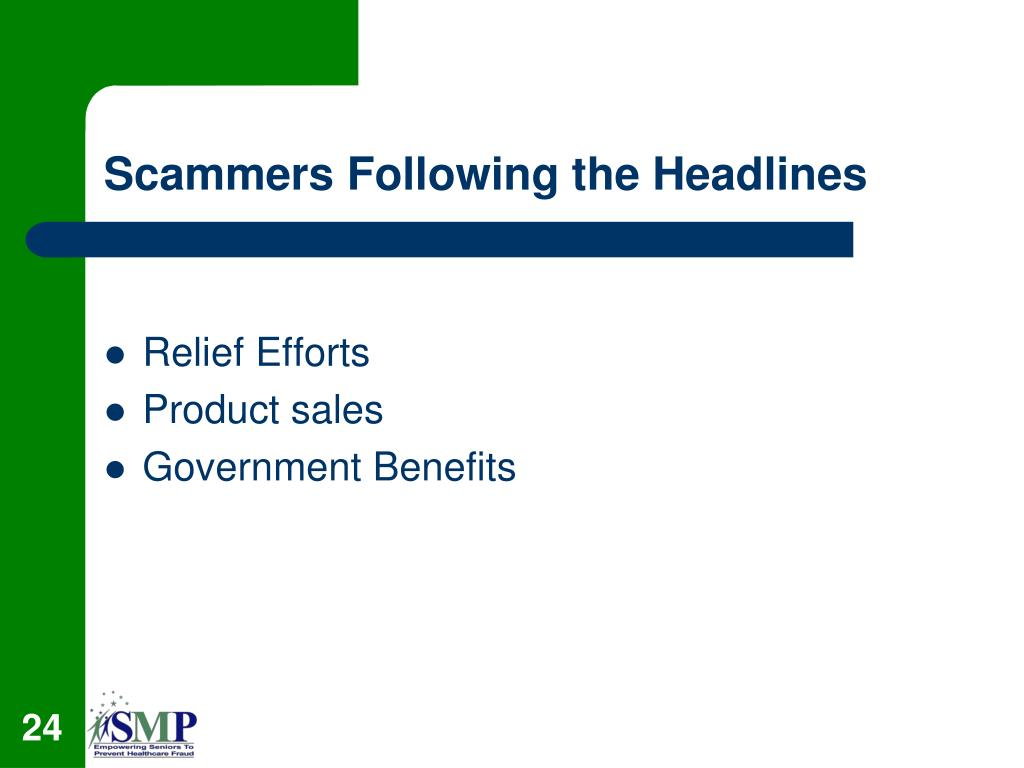 Scammers Following the Headlines