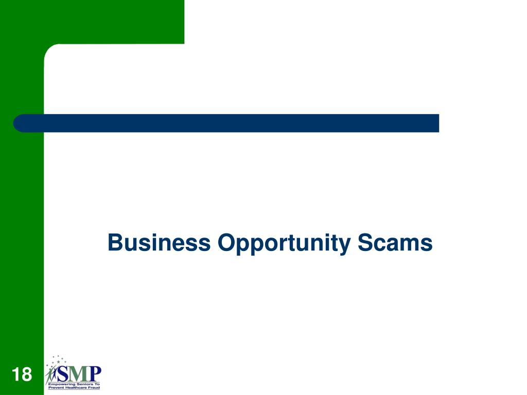 Business Opportunity Scams