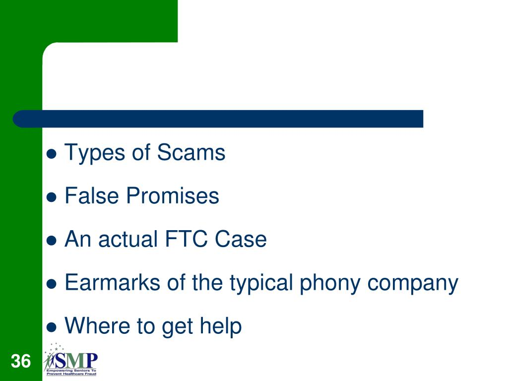 Types of Scams