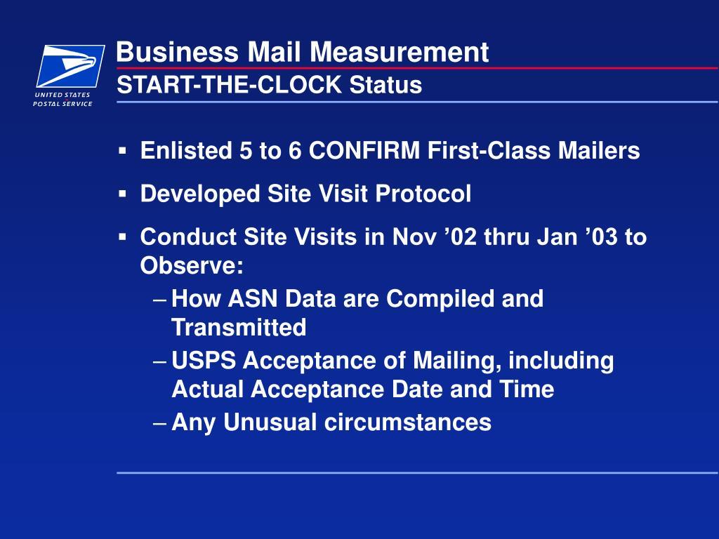 Business Mail Measurement