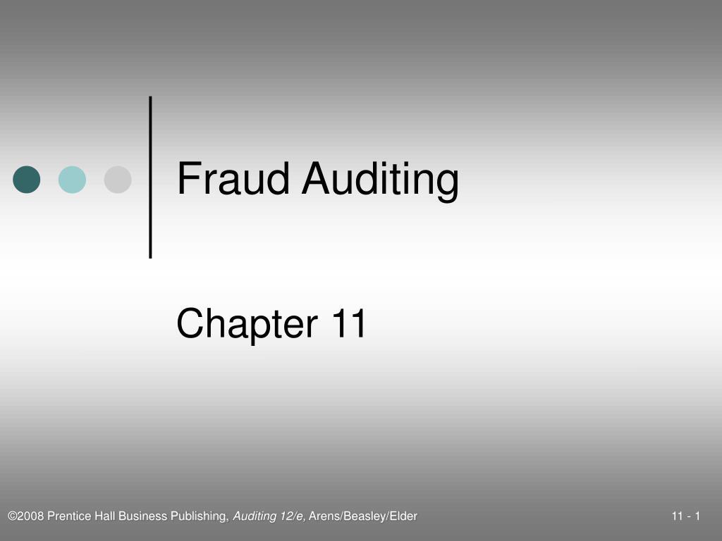 fraud auditing l.