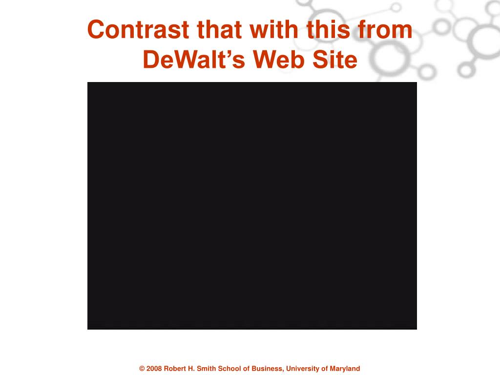 Contrast that with this from DeWalt's Web Site