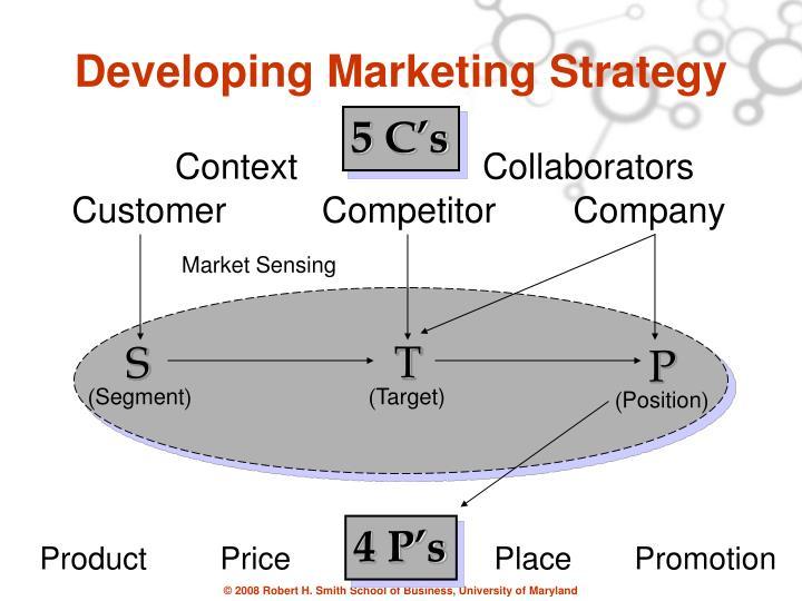 Developing marketing strategy