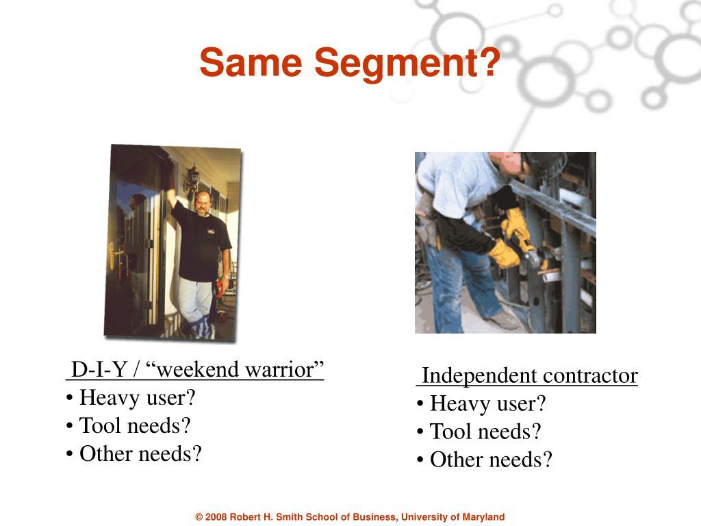 Same Segment?