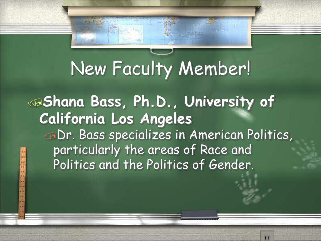 New Faculty Member!