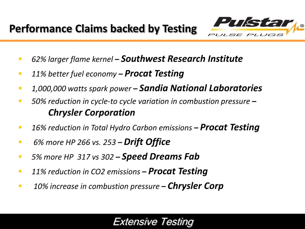 Performance Claims backed