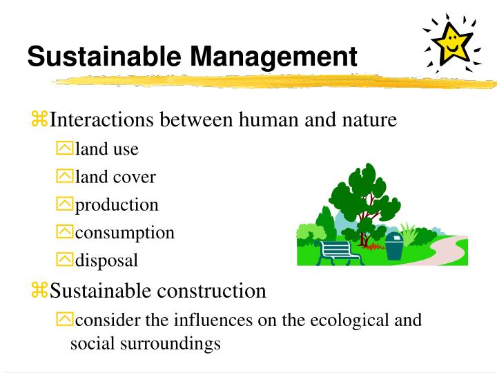 Sustainable Management