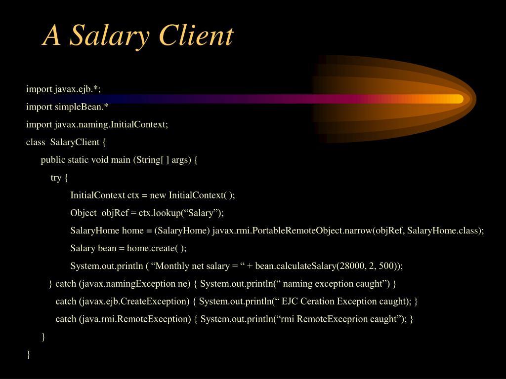 A Salary Client