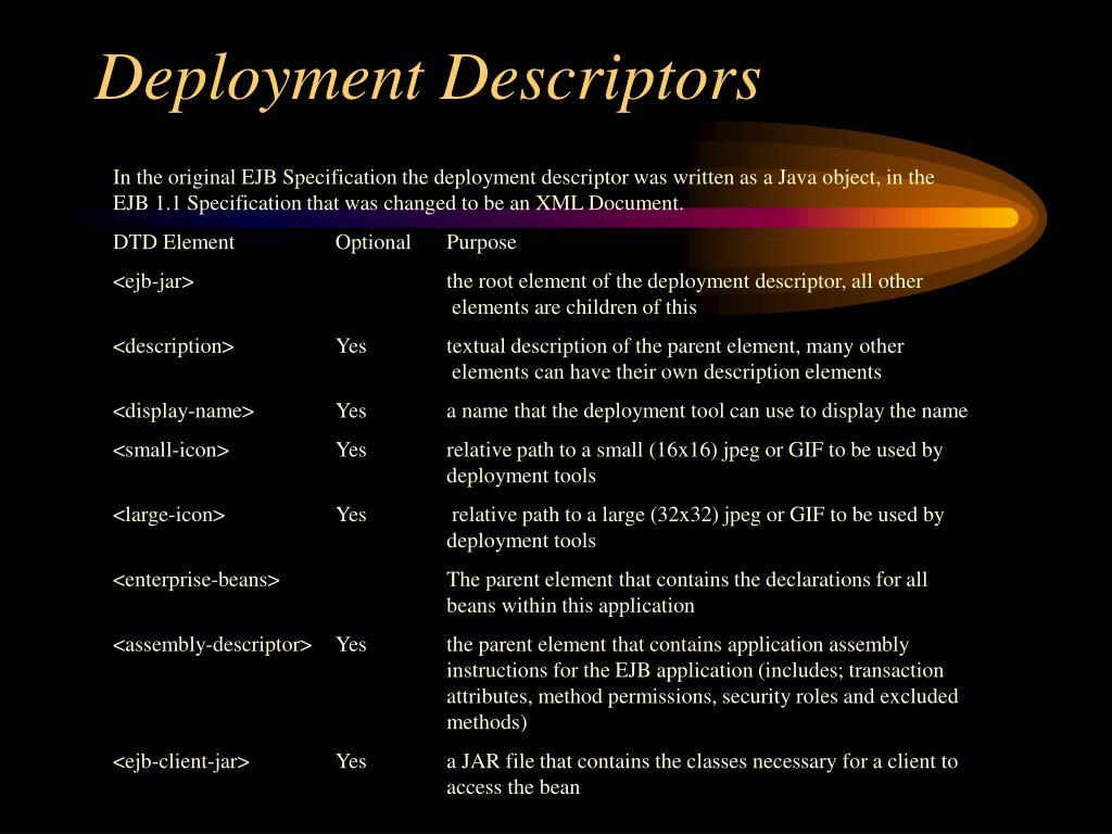 Deployment Descriptors