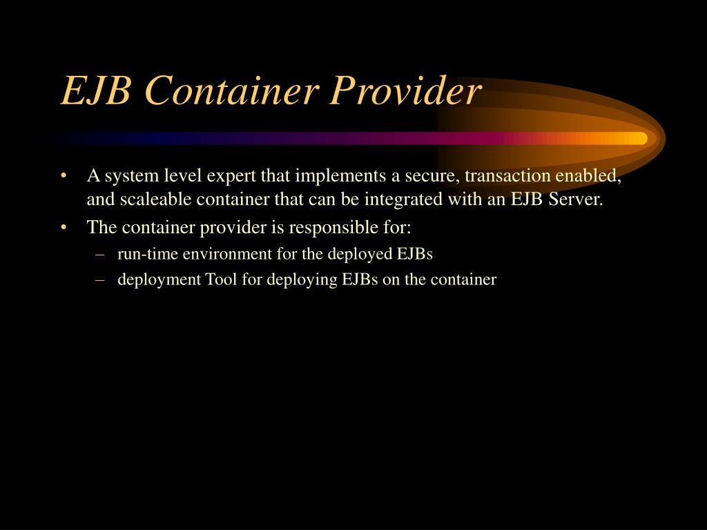 EJB Container Provider