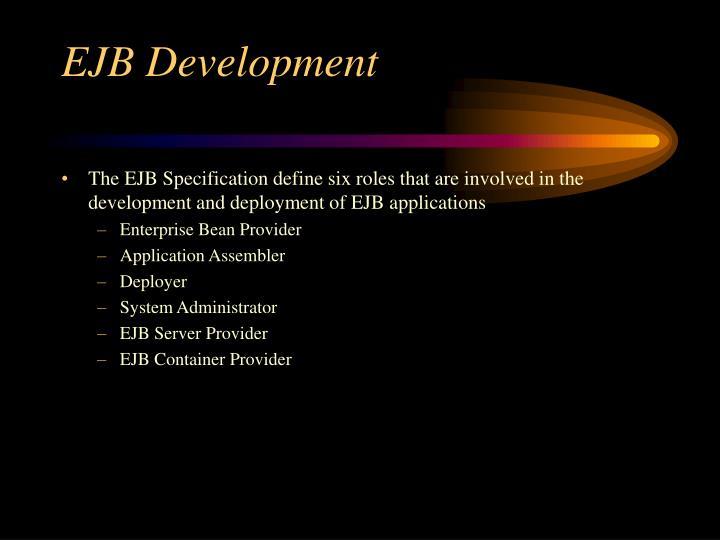 Ejb development