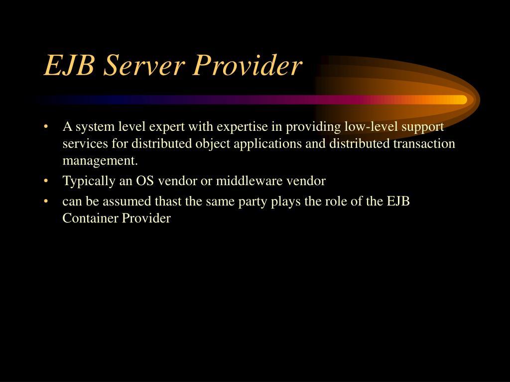 EJB Server Provider