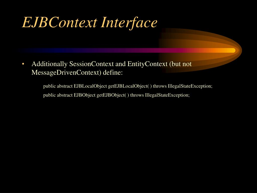 EJBContext Interface