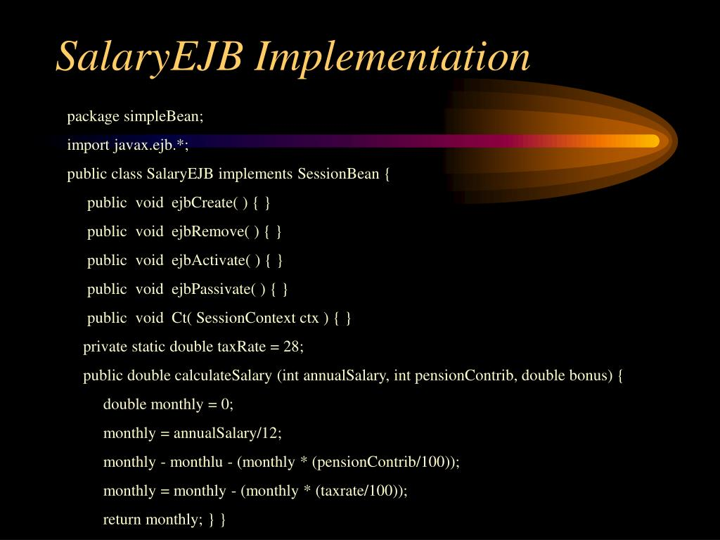SalaryEJB Implementation