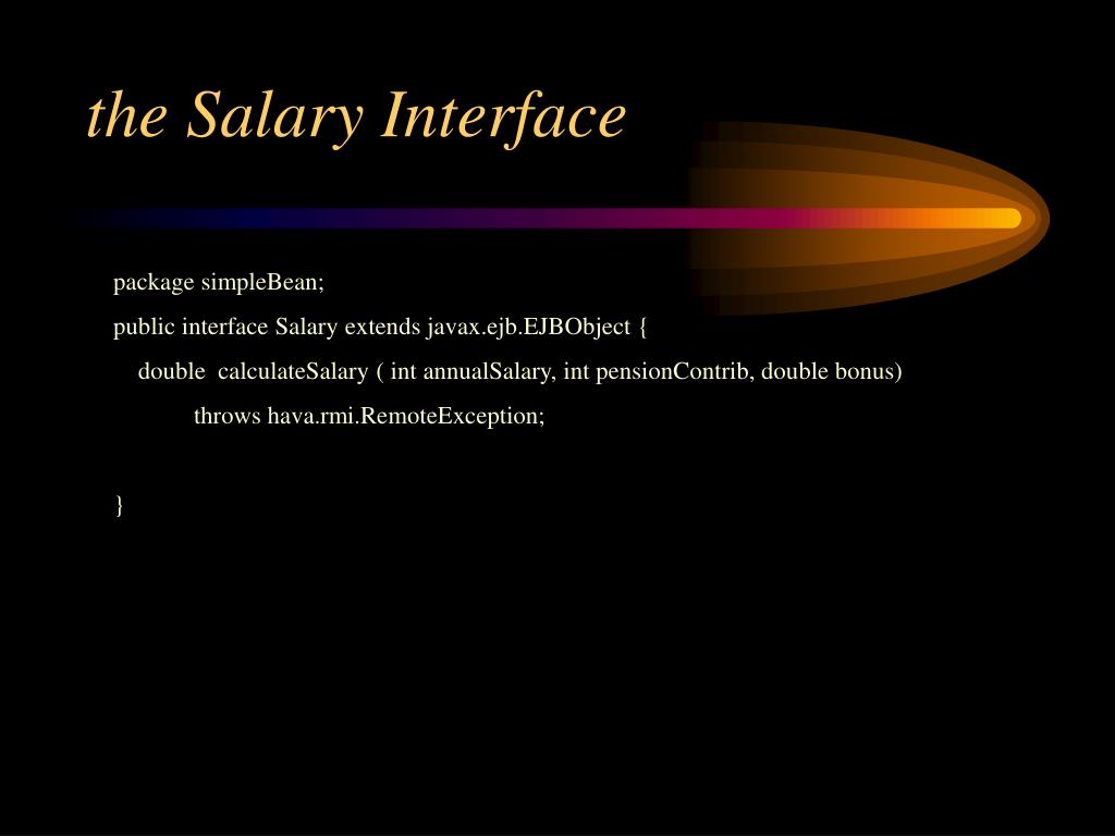 the Salary Interface