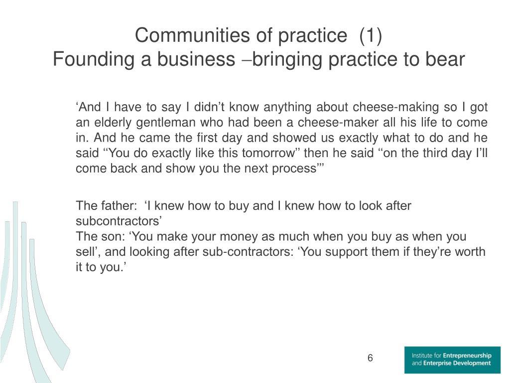 Communities of practice  (1)