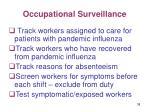 occupational surveillance