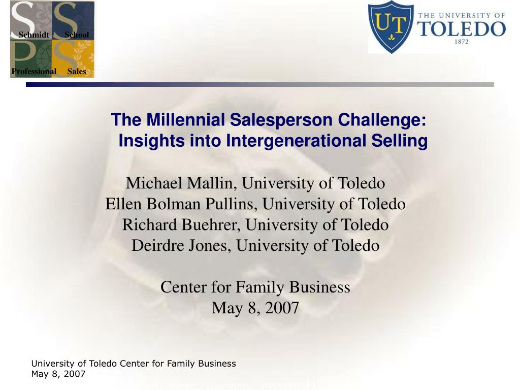 the millennial salesperson challenge insights into intergenerational selling l.