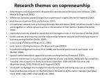 research themes on copreneurship