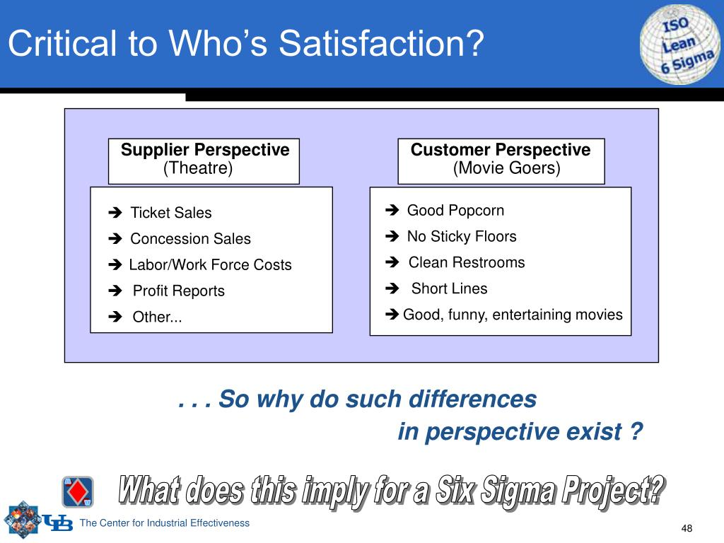Critical to Who's Satisfaction?