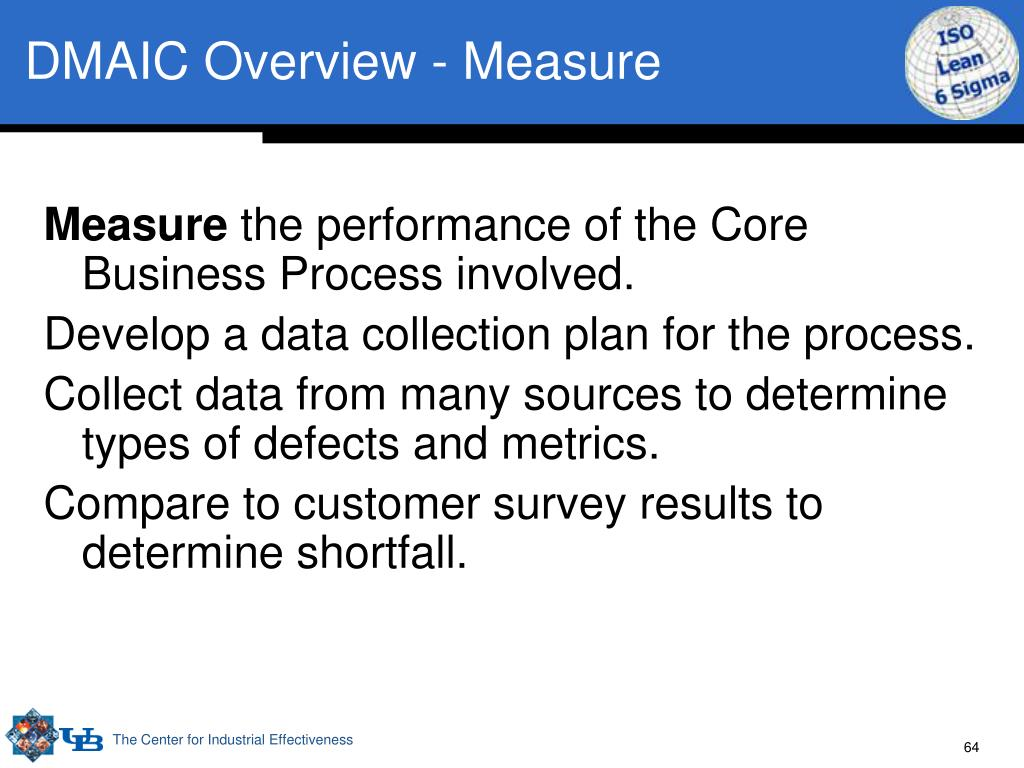 DMAIC Overview - Measure