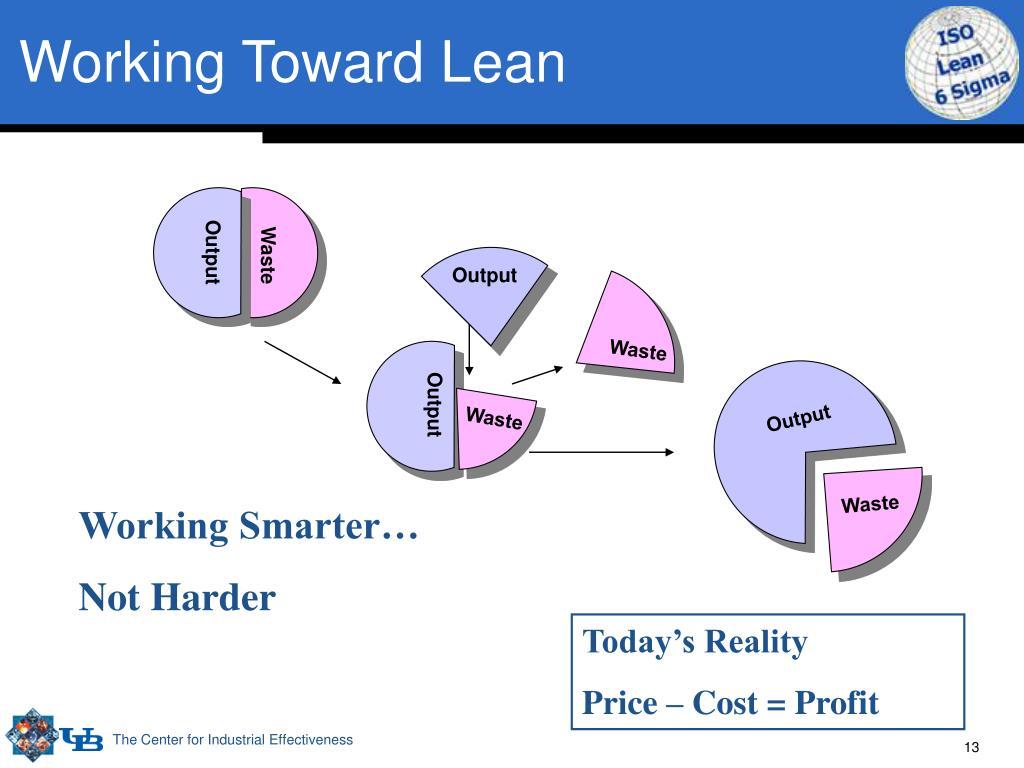 Working Toward Lean