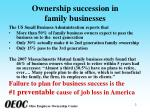 ownership succession in family businesses