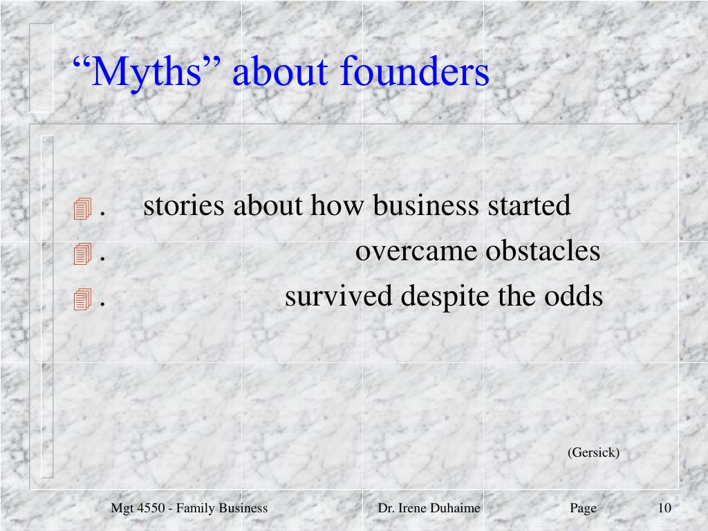 """""""Myths"""" about founders"""