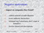 negative motivations